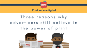 Infographic: Three reasons why advertisers still believe in the power of print