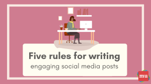 Infographic: Five rules for writing engaging social media posts