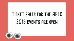 Tickets are now on sale for the 2019 <i>APEX Awards</i>