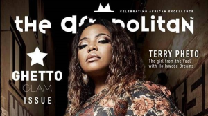 Terry Pheto features on the cover of <i>The Afropolitan</i>