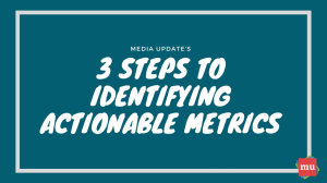 Infographic: Three steps to identifying actionable metrics