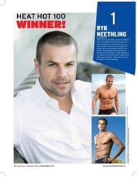 Ryk Neethling tops the 2012 <i>heat</i> Hot 100 competition